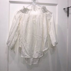 Off the Shoulders White Blouse